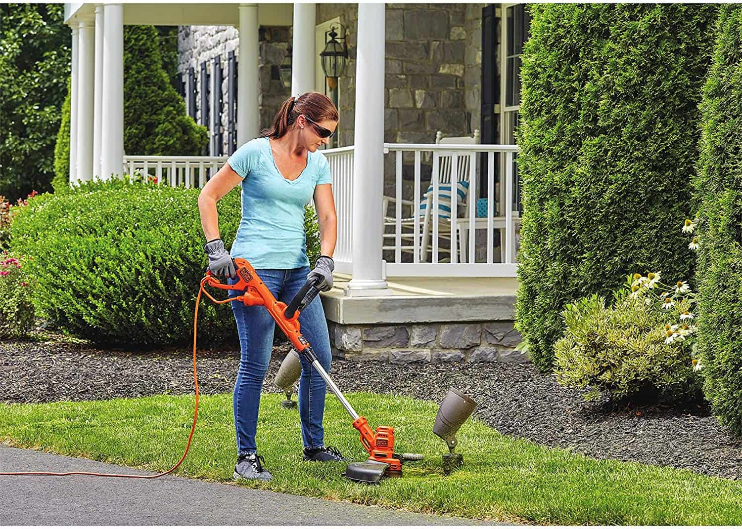 BLACK+DECKER BESTA510 6.5 Amp 14 in. AFS Electric String Trimmer-Edger